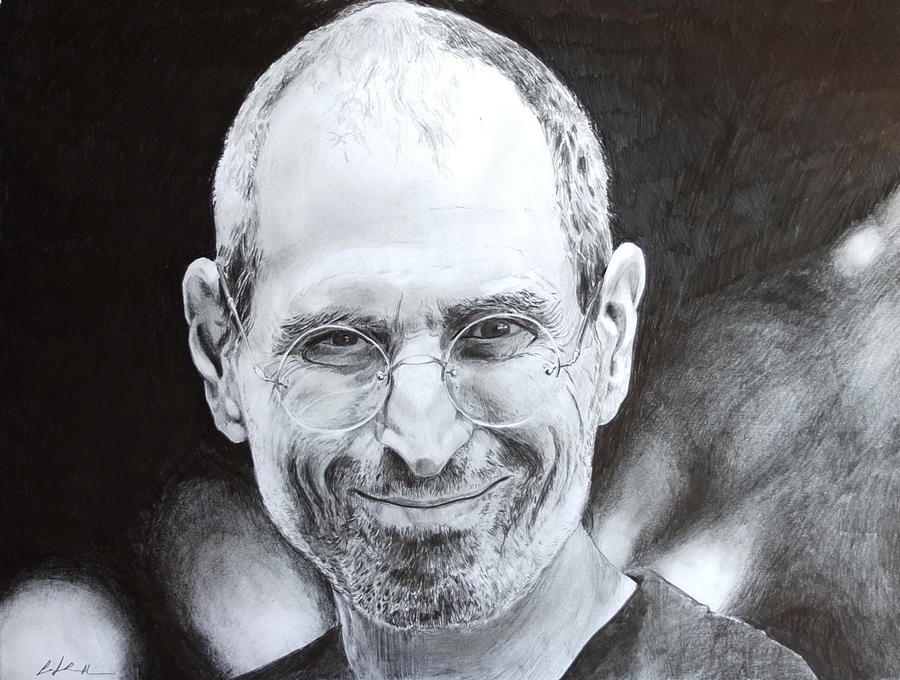 Steve Jobs Portrait . SPEED DRAWING ITALIA by Speeddrawingitalia