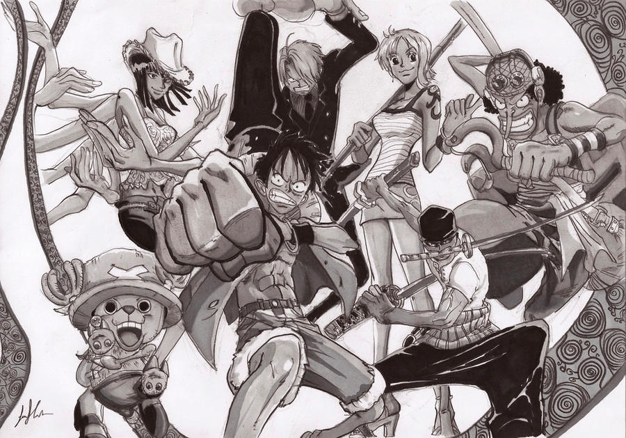 One Piece Draw with pencil and pantone! by ...