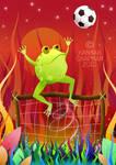 Football Fanatic Frog