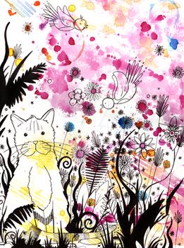 Summer Garden Cat