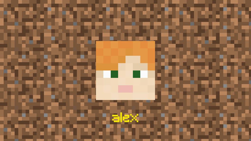 Minecraft Head Project 4 Alex by h3video1RavenShadow