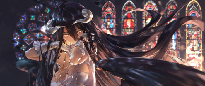 Overlord . Albedo Gothic . Wallpaper 2560x1080 Png