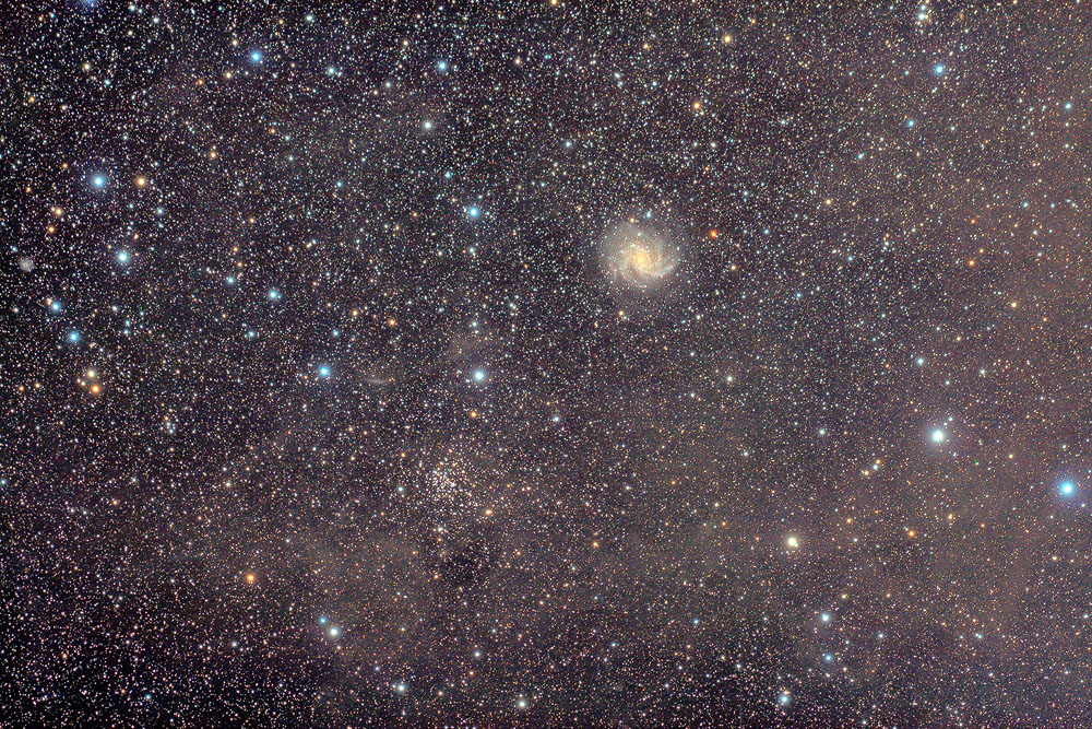 NGC6946 Firework and NGC6939 by ZeSly