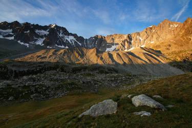 The Moraine of the Glacier d'Arsine