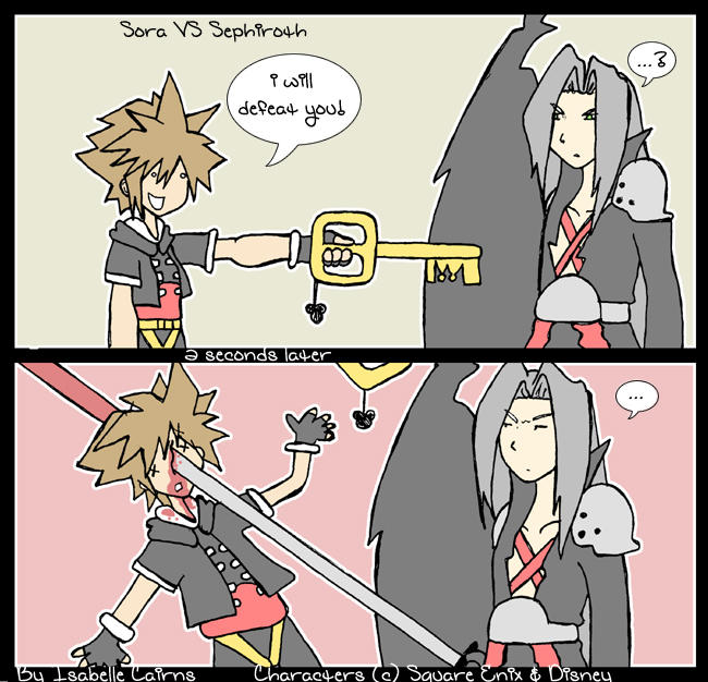 Sora vs Sephiroth by Rayanz