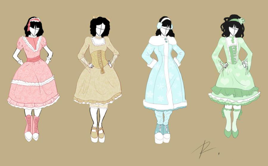 Fashion design set 4 by rinmaru on deviantart for Fashion designer craft sets