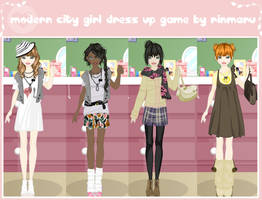 Modern city girl dress up game by Rinmaru
