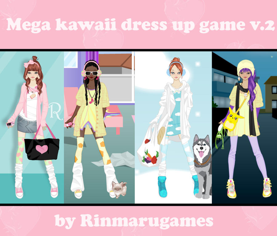 Character Design Dress Up Game : Mega kawaii dress up game v by rinmaru on deviantart