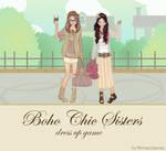 Boho Chic Sisters dressup game