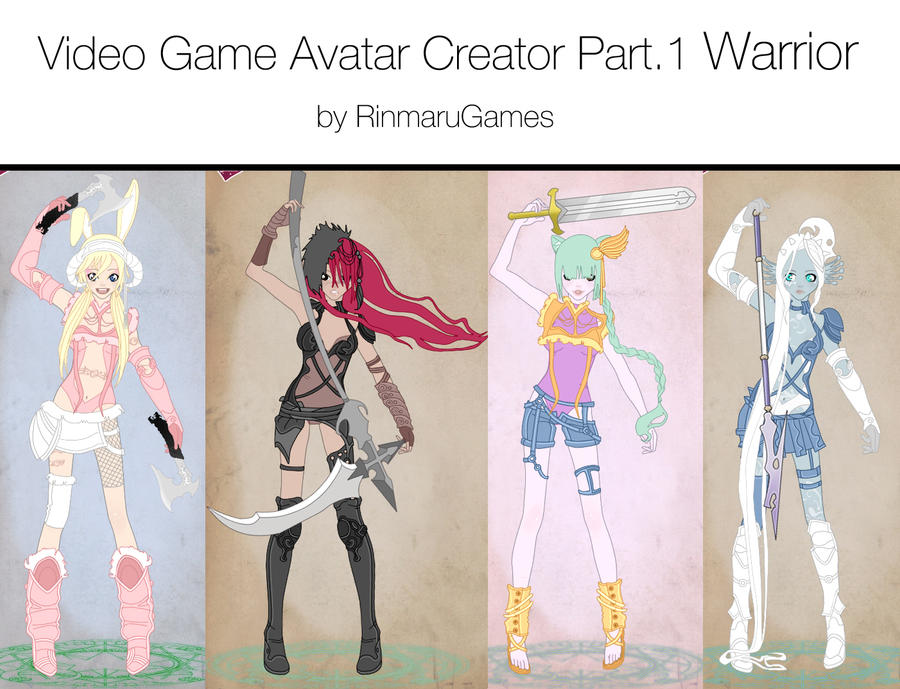 Character Design Dress Up Game : Video game avatar creator v by rinmaru on deviantart