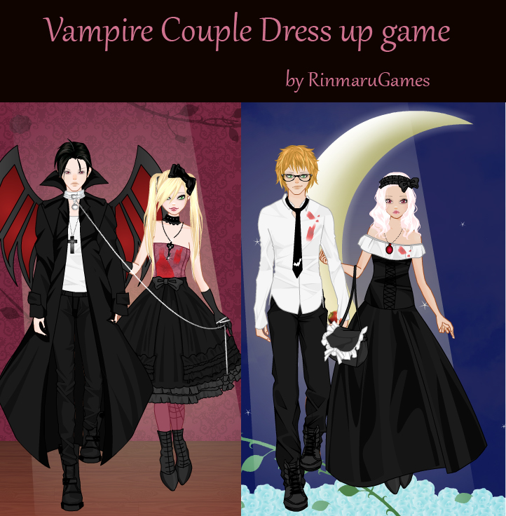 Character Design Dress Up Game : Vampire couple dress up game by rinmaru on deviantart