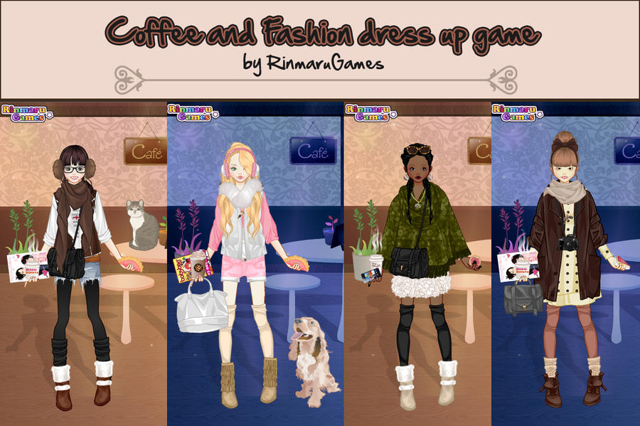 Coffee and fashion dress up game by rinmaru on deviantart Fashion style games online