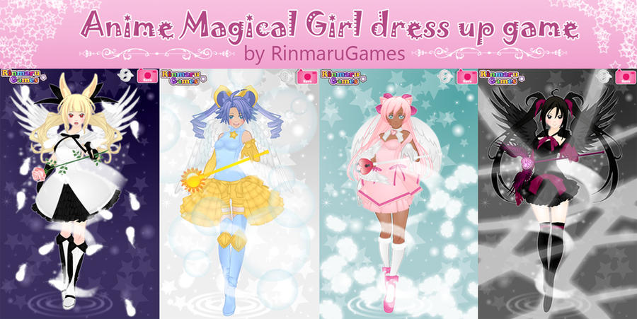 Anime magical girl dress up game by Rinmaru