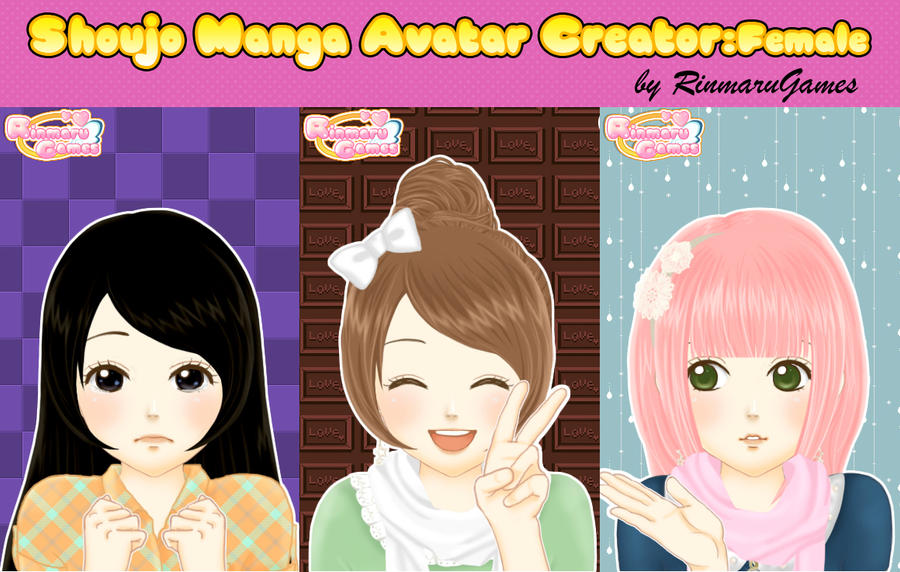 Shoujo Manga Avatar Creator:Female by Rinmaru