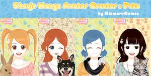 Shoujo manga avatar creator:Pets