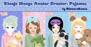 Shoujo manga avatar creator:Pajamas