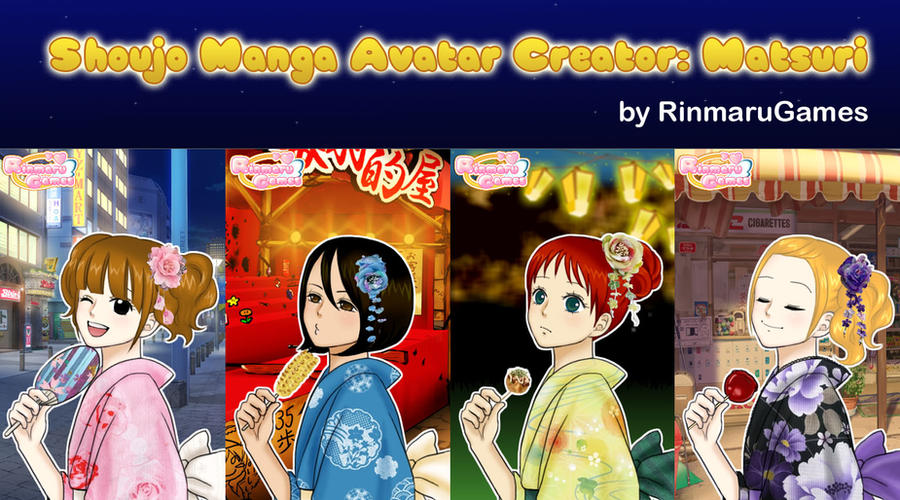 Shoujo manga avatar creator:Matsuri by Rinmaru