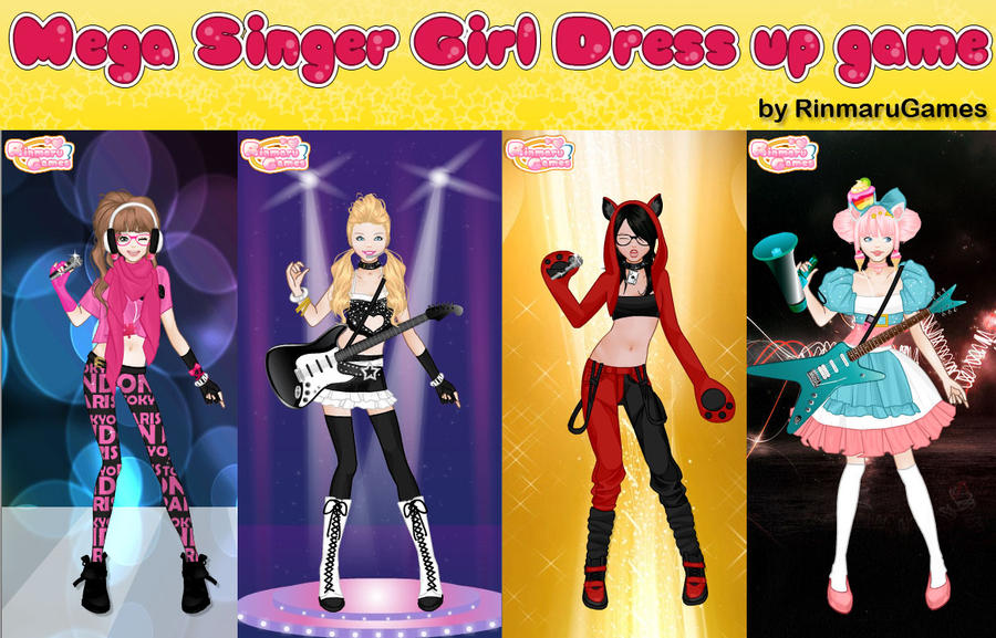 Design Dress Up Game Girl Mega singer girl dress up game