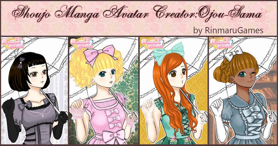 Shoujo manga avatar creator:Ojou-sama by Rinmaru