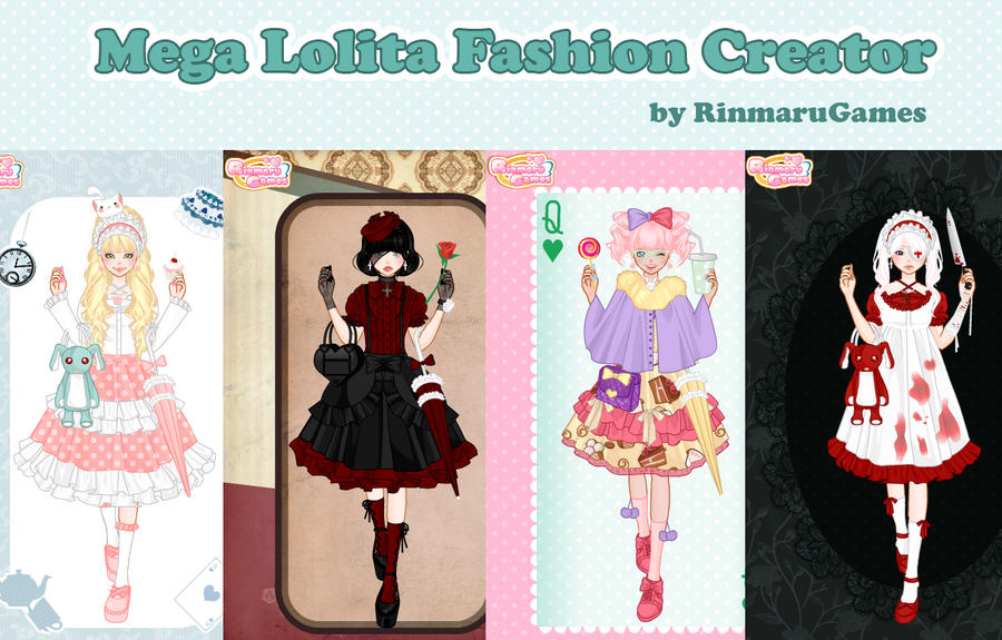Mega lolita fashion creator by Rinmaru