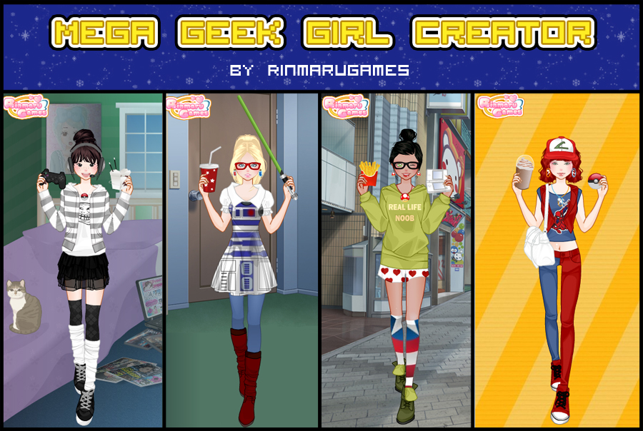 Mega geek girl creator by Rinmaru