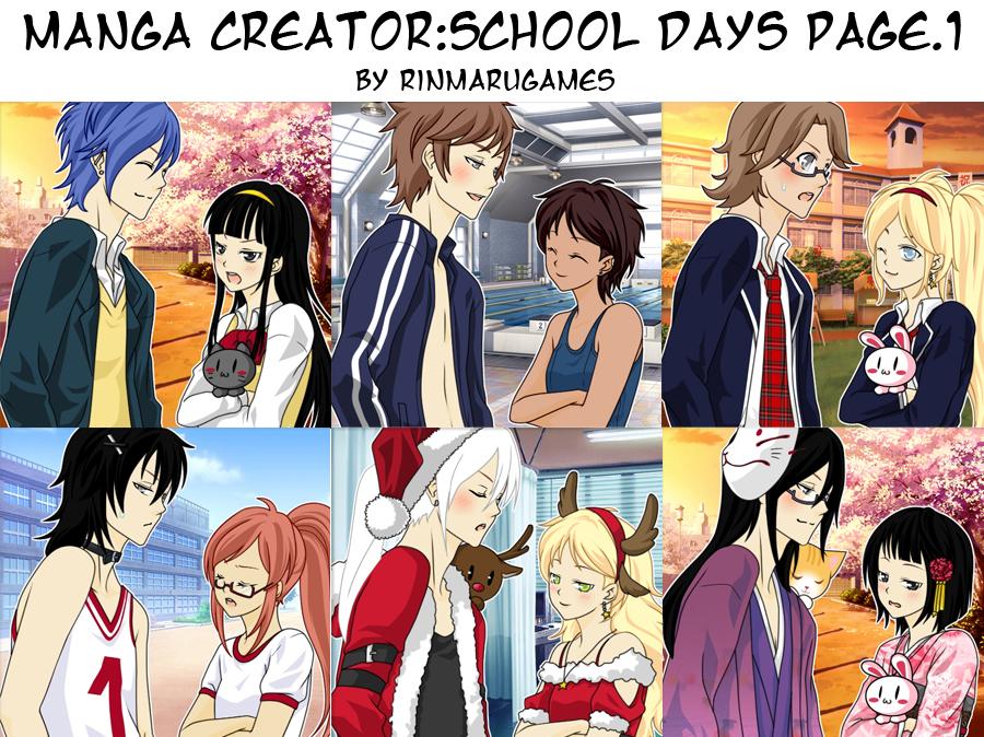 Manga creator School Days   page 1 by Rinmaru. Manga creator School Days   page 1 by Rinmaru on DeviantArt