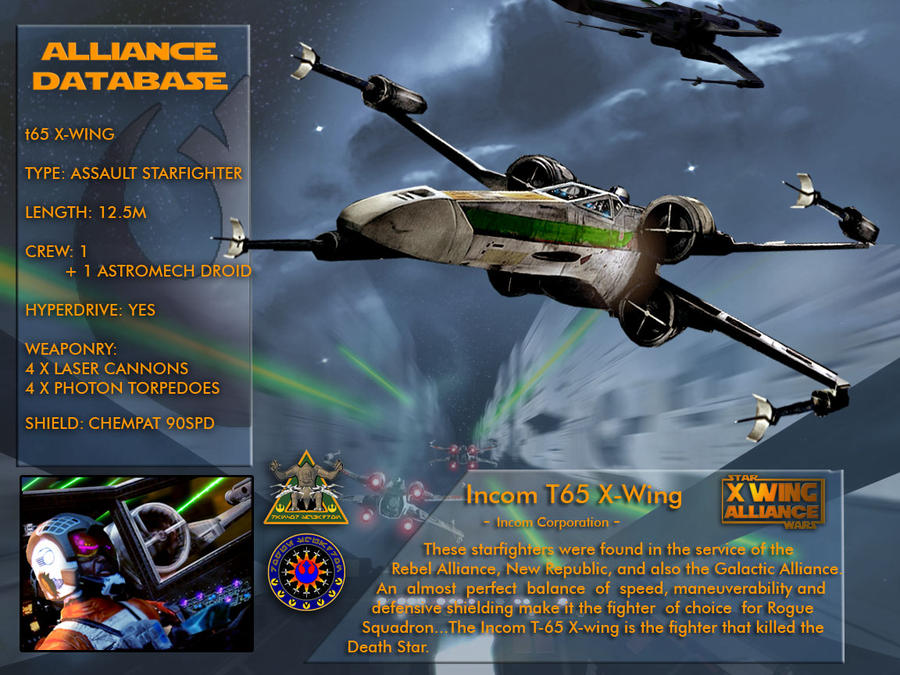 X-Wing Aliance Tech Library - X-Wing Fighter by hangarbay94