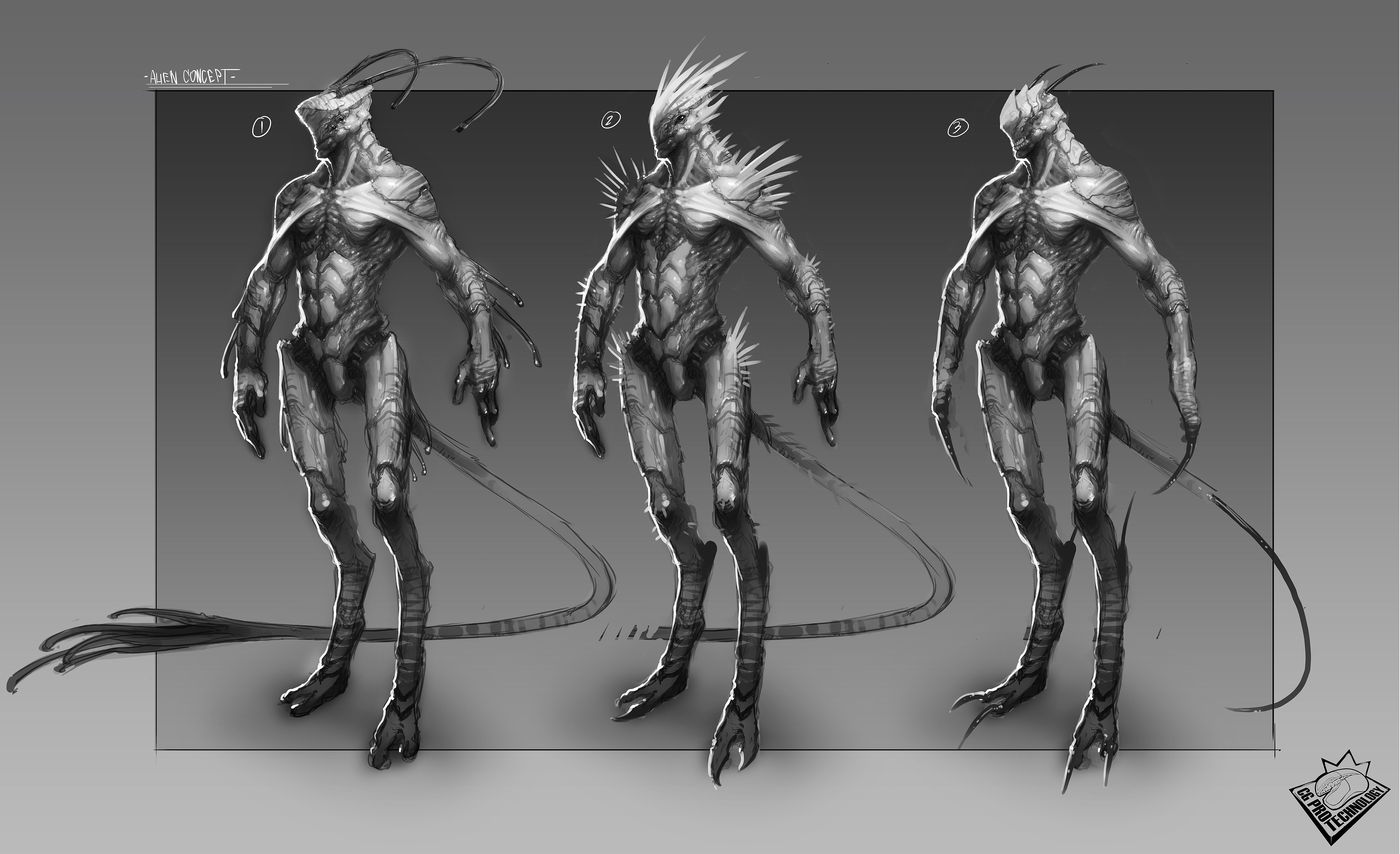 Alien Concept Serra9zit By Cgptteam Watch Digital Art Drawings