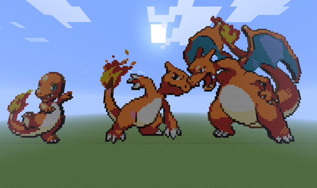 Charmander Charmeleon Charizard In Minecraft By ZoomgJoanner