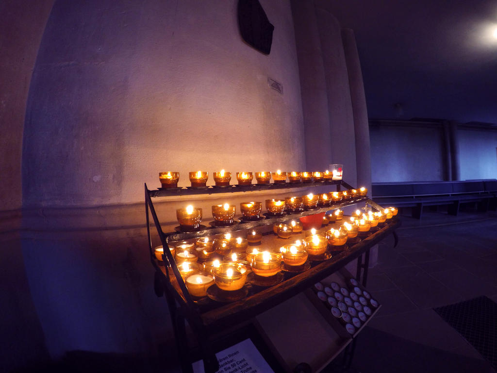 Candles in Church by Roman89