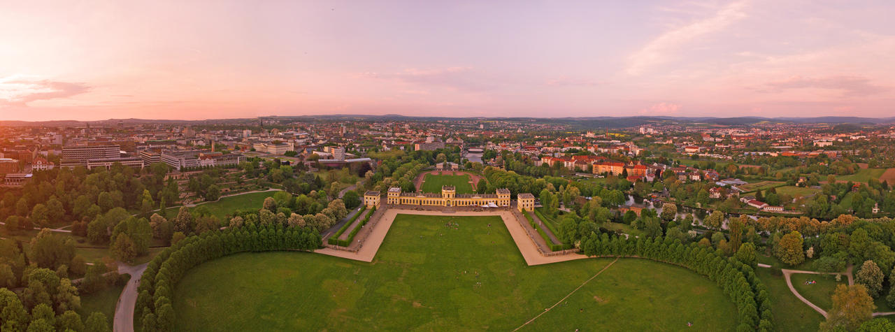 Orangerie Kassel from above by Roman89