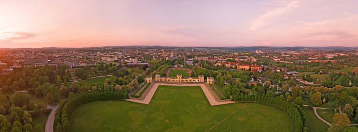 Orangerie Kassel from above