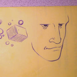 Doodle - Boxes and 3/4 Head Sketch