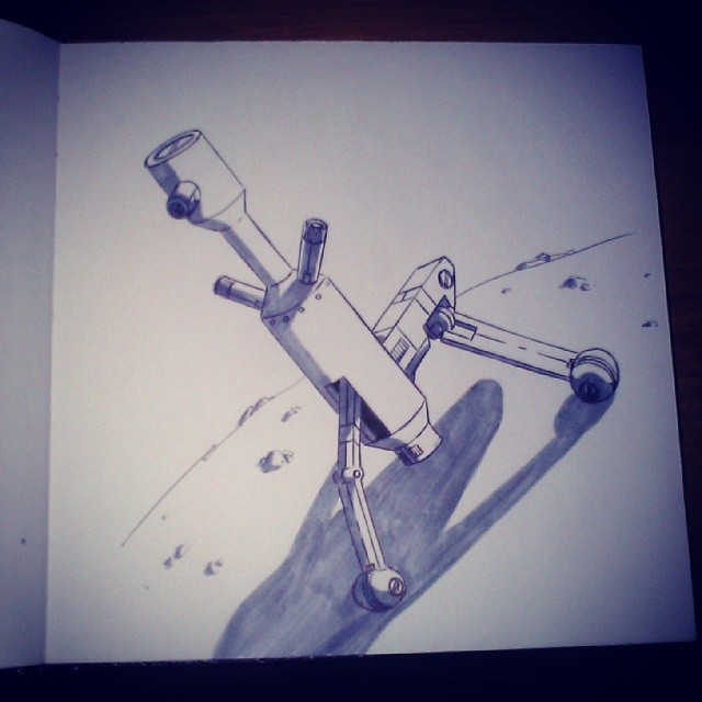 sketchbook - Robot Piece by JaimeDL