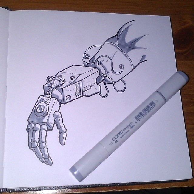 Sketchbook - Robot Arm by JaimeDL