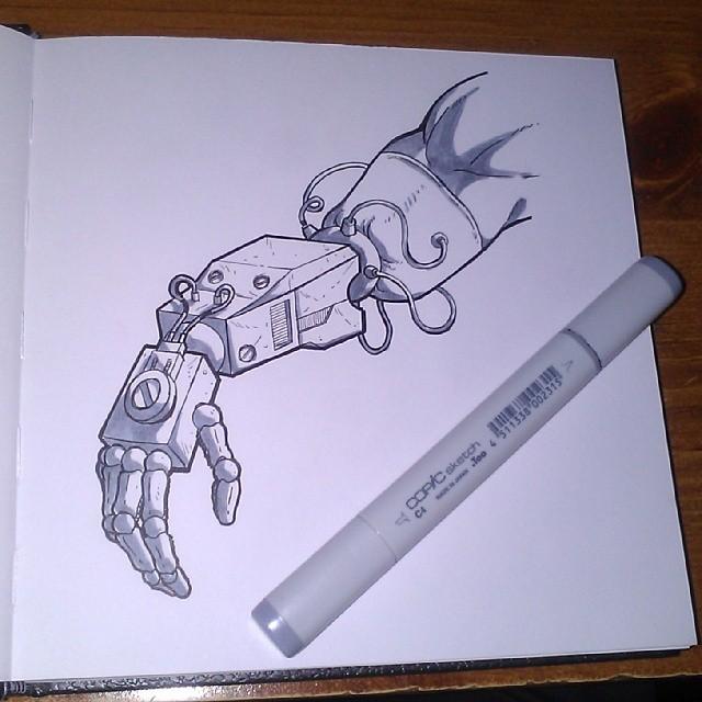Sketchbook - Robot Arm by JaimeDL