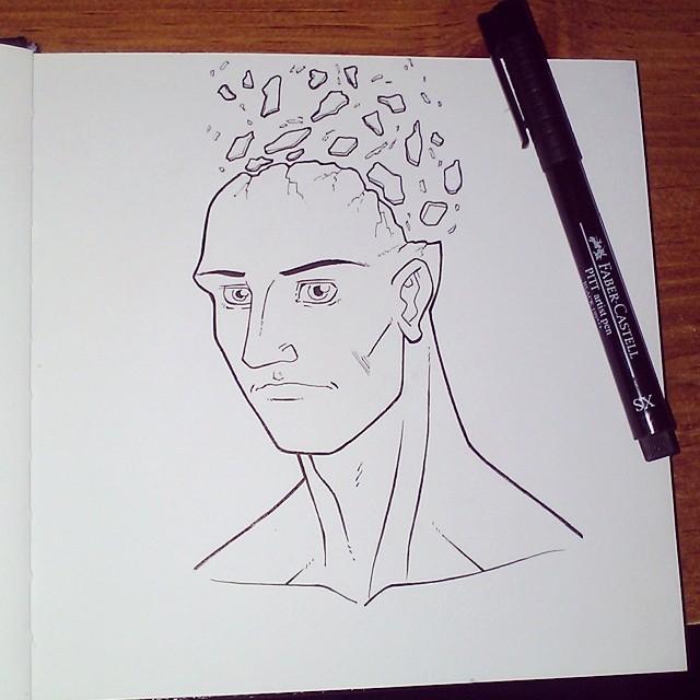 Sketchbook - Head Mind Blown by JaimeDL
