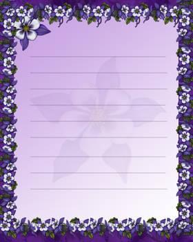 Purple Stationary by JunkbyJen