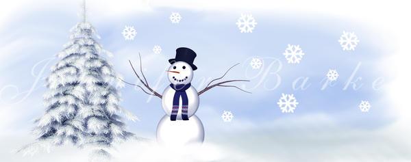 Winter Scene for Mug by JunkbyJen