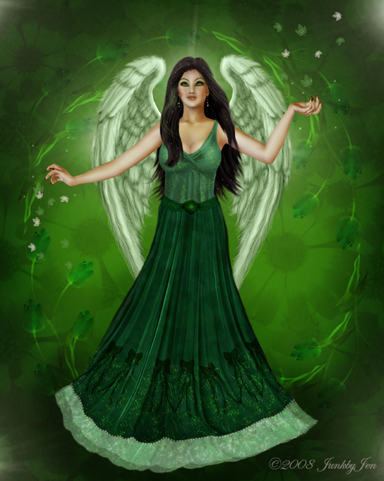 green angel in springtime - photo #5
