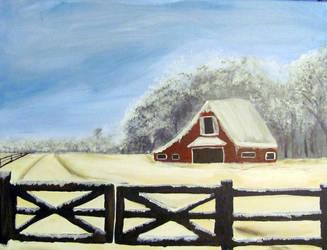 ::Winter at the Ranch:: by JunkbyJen
