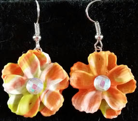 Polymer Clay--Summery Earrings
