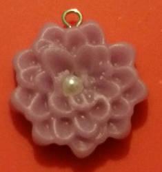 Polymer Clay Flower Charm by JunkbyJen