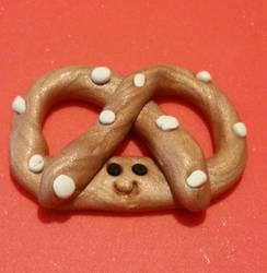 Polymer Clay--Pretzel by JunkbyJen