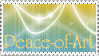 Peace-of-Art Support Stamp by JunkbyJen