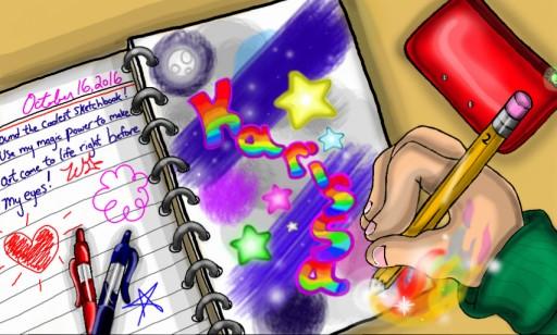 The Magic Sketchbook by StarbornKarissa