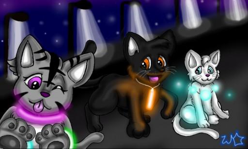Cats of Light by StarbornKarissa
