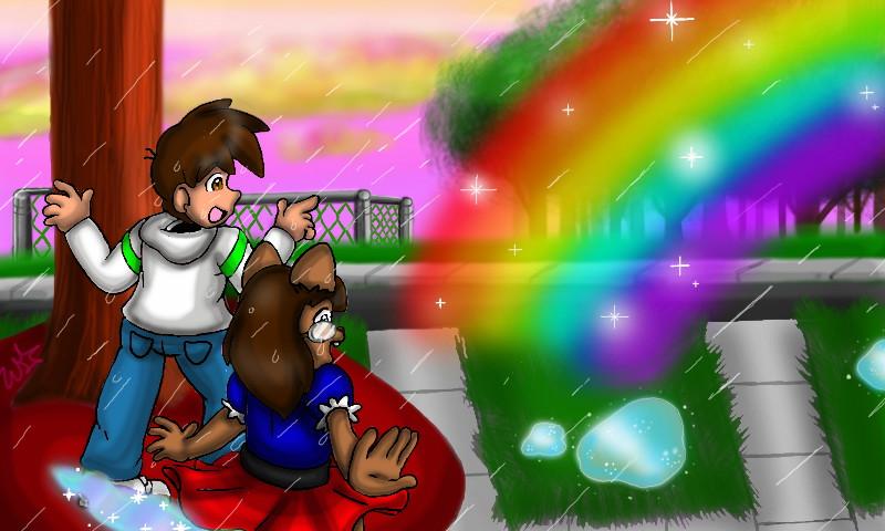 Shroud and Tina - Rainbow Gaze by StarbornKarissa