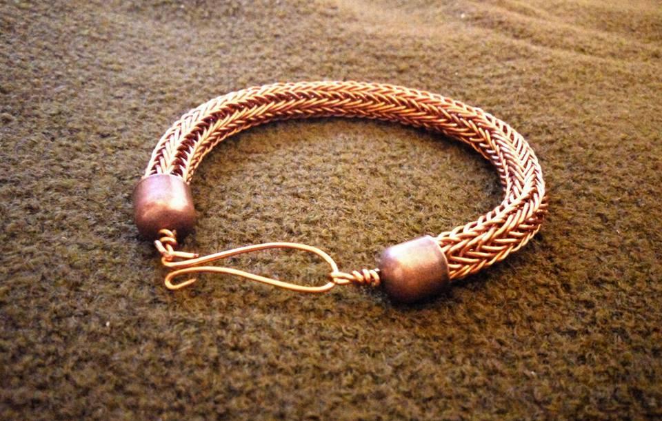 Viking knit copper bracelet by vikingknit