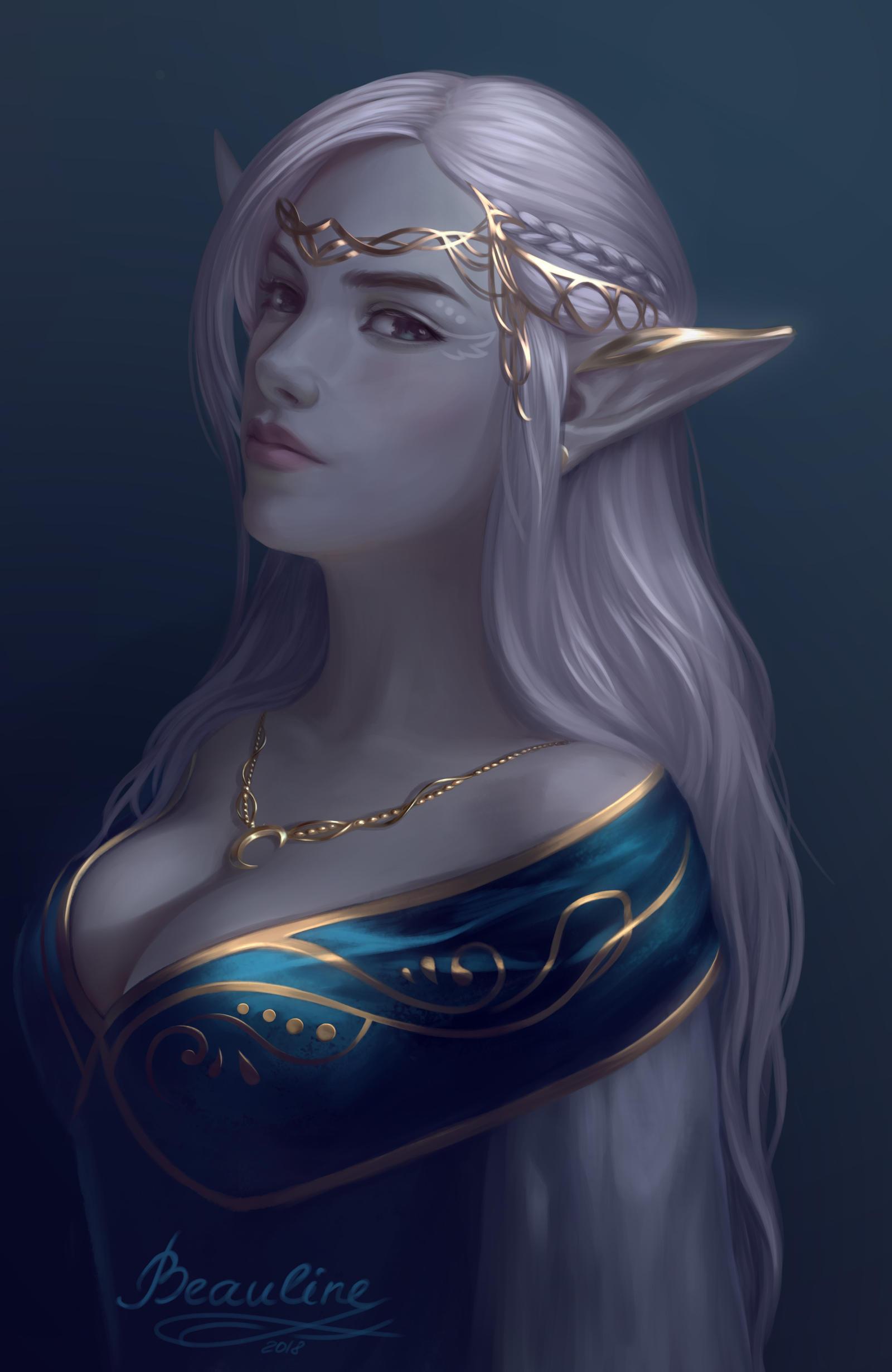 Dark Elf by Beauline on DeviantArt
